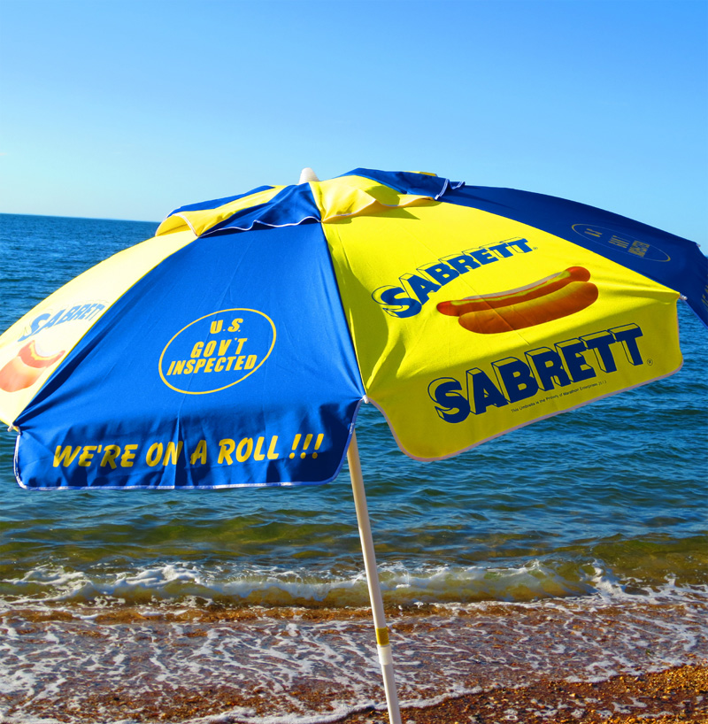Umbrella Beach Sabrett Hot Dogs